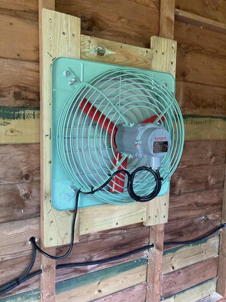 Atex fan, installed