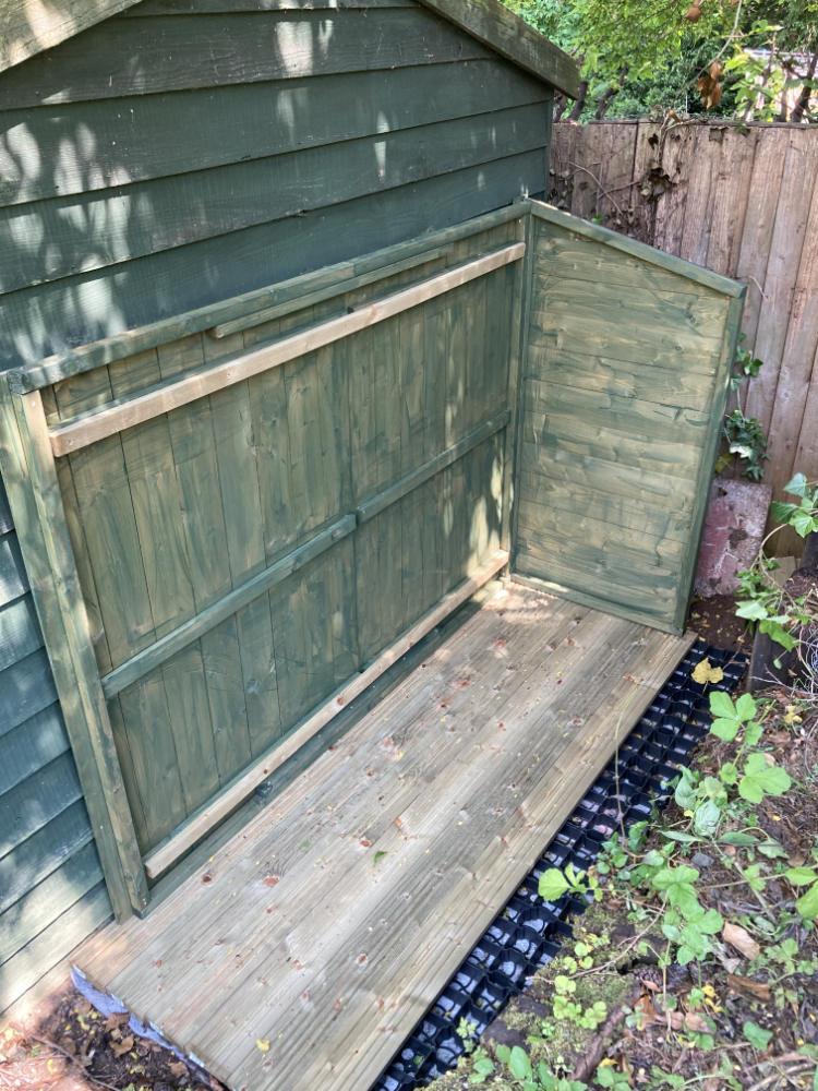 Building a bike shed for a compressor